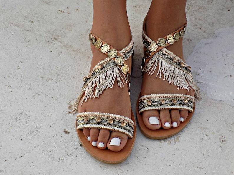 3fa184d0ffed Handmade Leather Sandals Women Sandals Wedding Sandals Boho