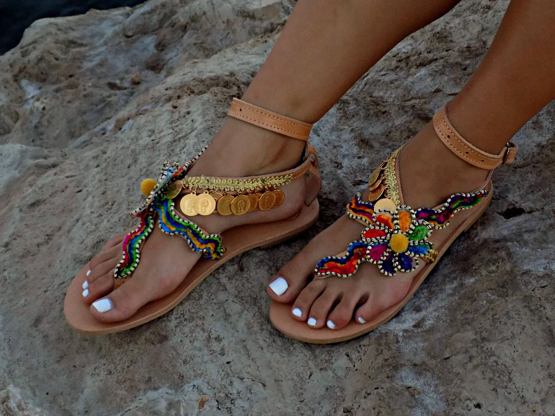 Gypsy Handmade Leather Boho SandalsGreek Sandals 7Ybyfg6v