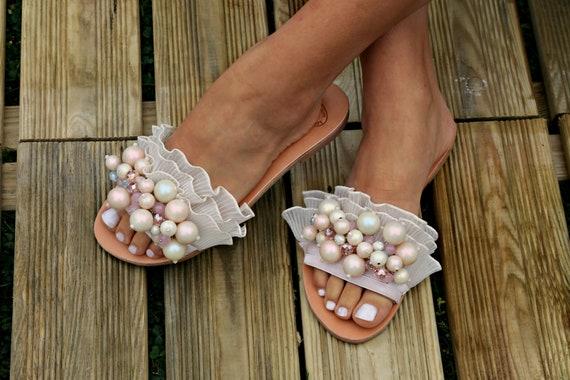 e50ec31809de86 Wedding Sandals Greek Leather SandalsBridal Sandals Flat