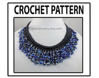 Crochet Scalloped Beaded Necklace Pattern