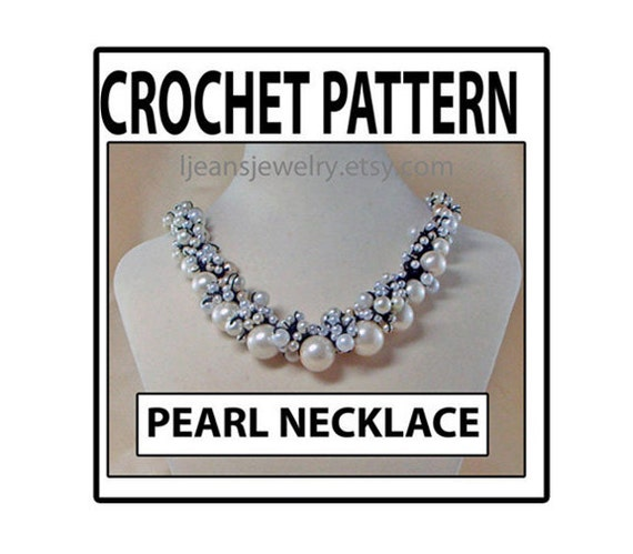 Crochet Pear Or Beaded Necklace Pattern Etsy