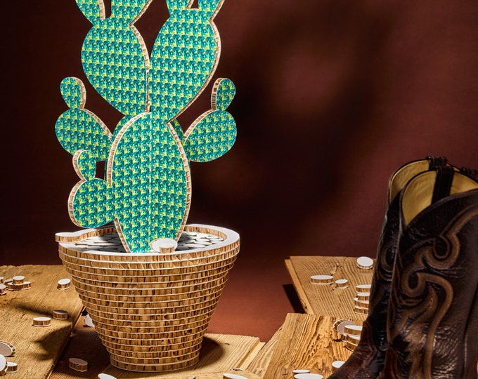 Featured listing image: Cactus Camaleo Pattern Green