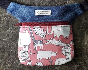 Animal kids fanny pack, Jungle fanny pack, Children's bag, Crossbody fanny pack, Waist bag, Kids hip bag, Kids hip pouch, Kids hip bag
