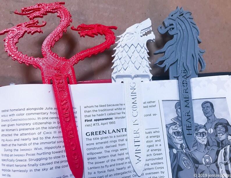 Game of Thrones Bookmarks Small Fan Gift House Lannister Stark Targaryen  for Books