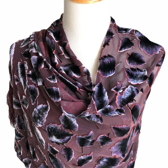 Neck Wrap Vintage Silk Scarf Gift For Her Stunning Silk Scarf-Reversible Blue and Black Mix Color