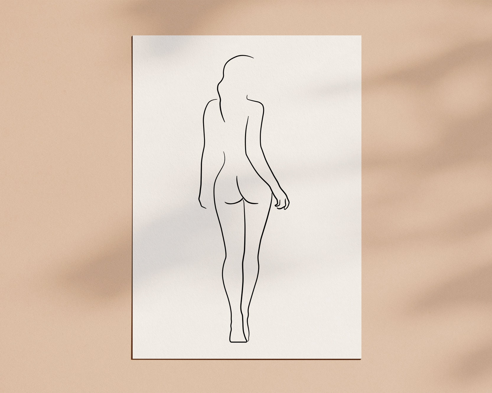 Female Figure Drawing Printable Line Art Female Body Woman Etsy