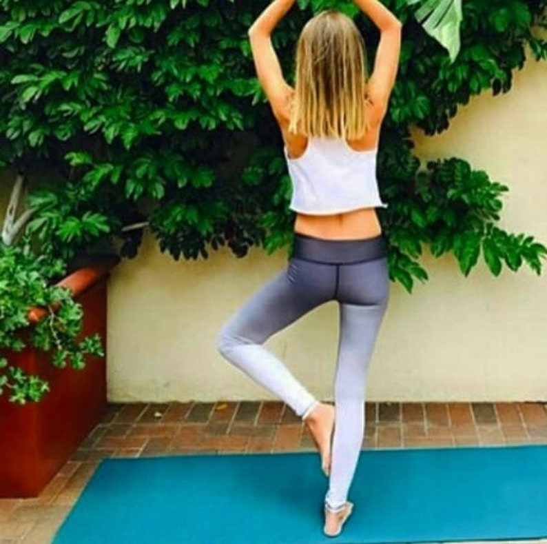 D'yoga Gym Yoga Entraînement De Femmes Gris Pantalon Leggings Onyx Pantalons iXOZkPu