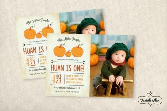 Little Pumpkin Customized Fall Autumn Gender Neutral