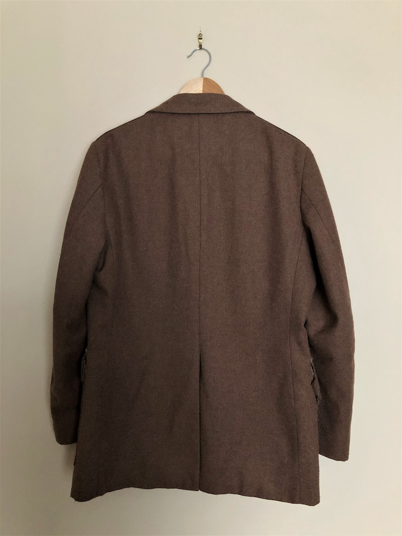 Vintage 1970s Men/'s Western or Military Style UTEX Wool Blazer with Horse Printed Lining