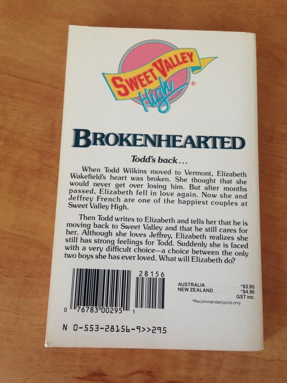 Sweet Valley High Broken Hearted Vintage Used Created By Etsy