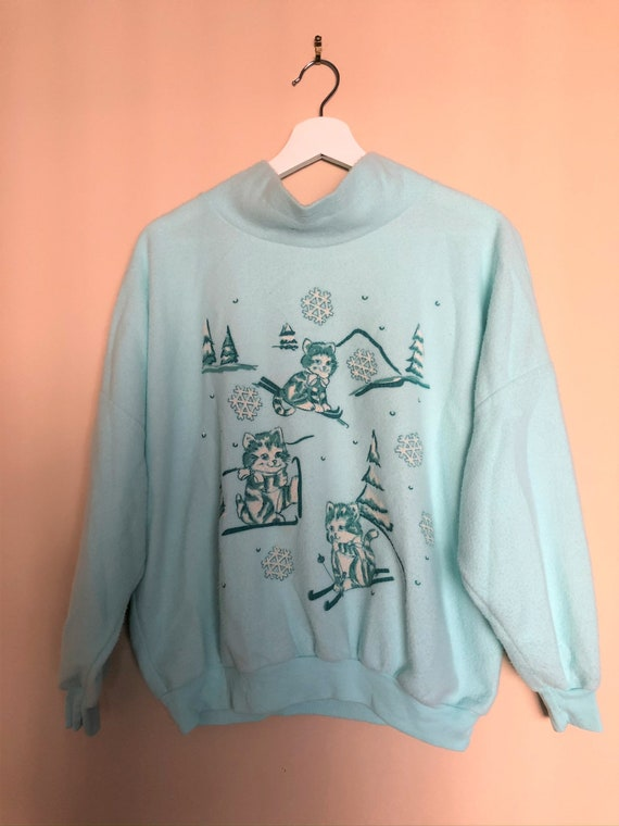 Vintage Ugly Christmas Sweater Jumper - The Skiing