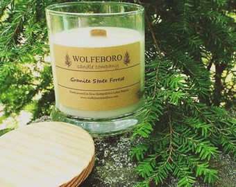 Granite State Forest - Wood Wick Soy Candle
