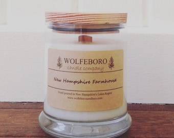 New Hampshire Farmhouse - Wood Wick Soy Candle