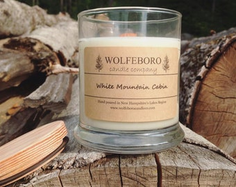 White Mountain Cabin - Wood Wick Soy Candle