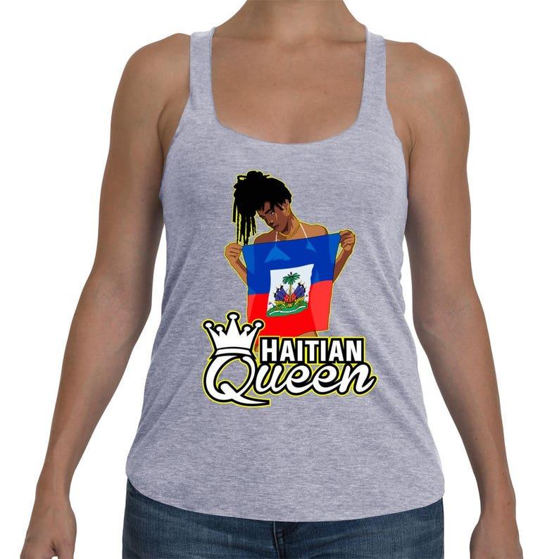 b4e0c8f8a7699 Haitian queen Tank Top