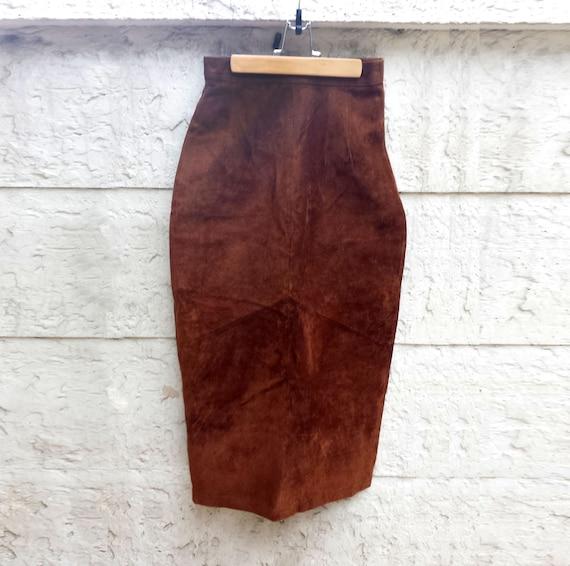 Vintage 90s Gitano Brown Suede Leather, Burnt Sien