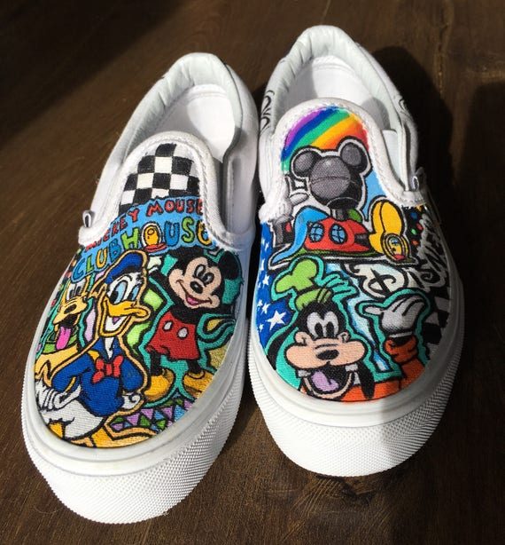 Disney Mickey Mouse Clubhouse inspired custom hand painted sneakers