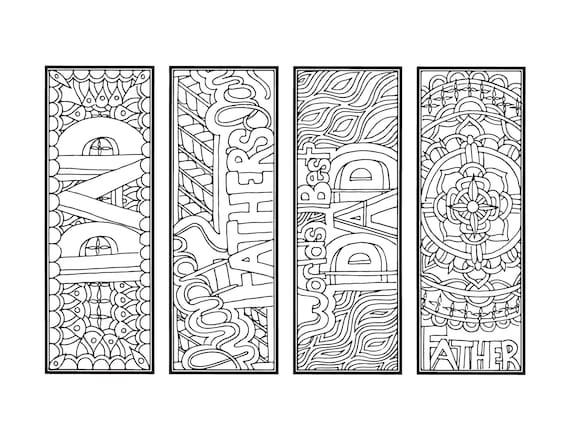 Diy Father S Day Bookmarks Printable Coloring Page Adult