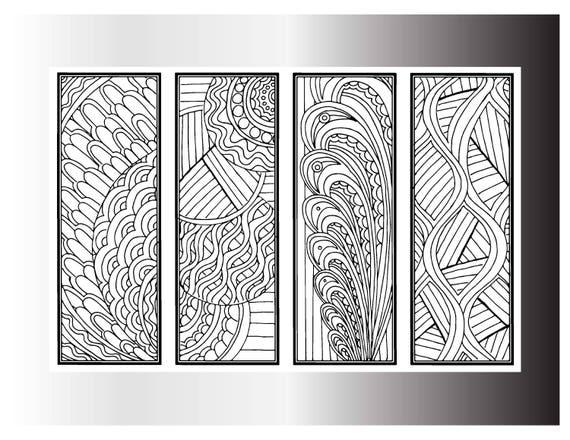 DIY Bookmarks Printable Coloring Page Adult Pages