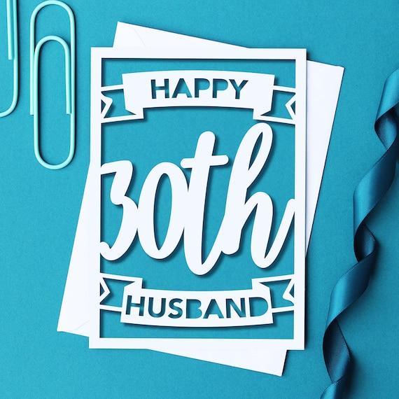 happy 30th birthday husband card husband 30th card husband etsy