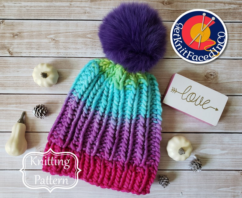 Simple Knit Hat Easy Beginner Knitting Projects Natacha Hat PDF Pattern