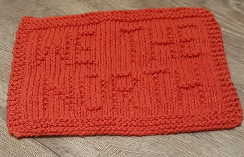 Easy Beginner Knitting Projects We The North Knit Dishcloth PDF Pattern Instant Digital Download