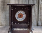 Medium Industrial, Rusted, I-Beam Clock, Farmhouse, Steampunk