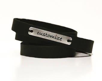 The Wrap Skinny, Leather Wrap Bracelet, Leather Wrap Cuff, Customize