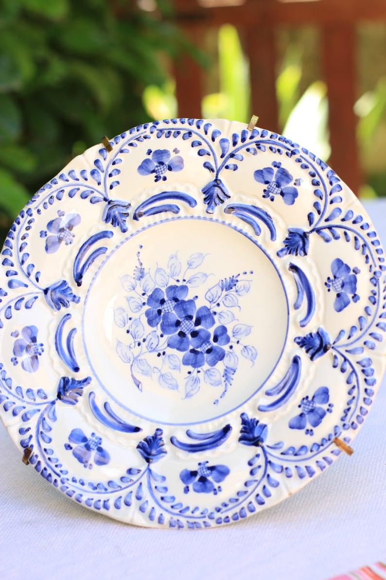 Decorative Plates & Bowls Ceramic Wall Plates Blue Flowers