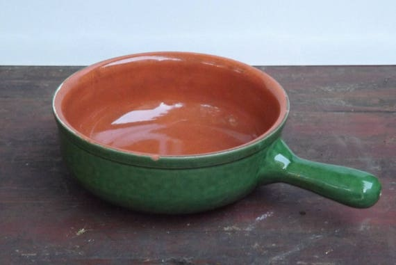 Albisola piral vintage fondue pot with handle terracotta etsy
