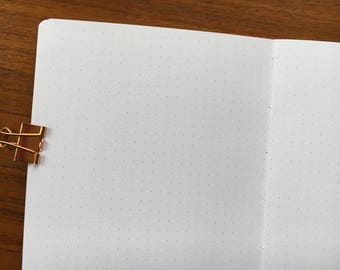 B6 Traveler's Notebook, Printed Dot Grid #b609
