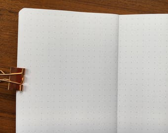 POCKET Traveler's Notebook, Printed Dot Grid #poc-15