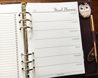 Printed A5 Size, Weekly Meal Planner Shopping List #a521