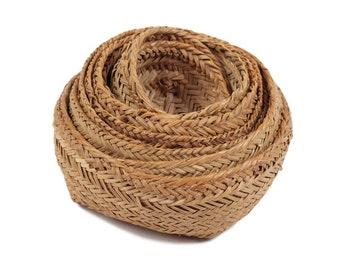 60s Set of 9 Nesting Baskets Boho Home Decor