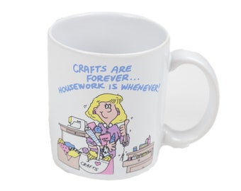 80s TLC Greetings Crafts Homework Funny Coffee Mug