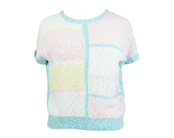 80s Pastel Knit Top by Michelle California