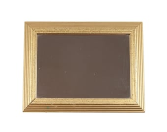 80s Antiqued Gold Framed Mirror Wall Hanging Decor