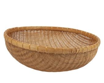60s Round Wicker Basket Boho Home Decor
