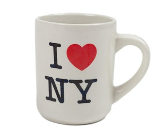 70s I Love NY Ceramic Cafe Coffee Mug