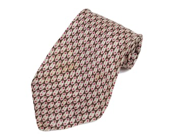 60s Silk Geometric Pattern Neck Tie