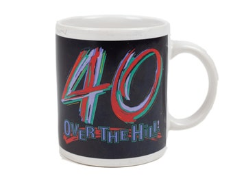 80s Over the Hill 40th Birthday Mug