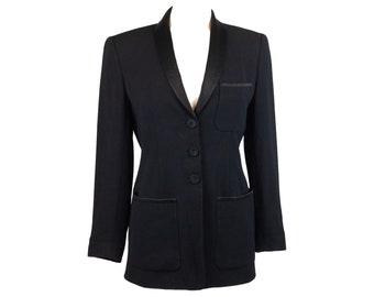 90s Dana Buchman Women's Black Blazer 4
