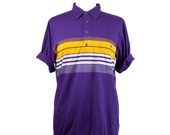 80s Lakers Purple Gold Arnold Palmer Polo