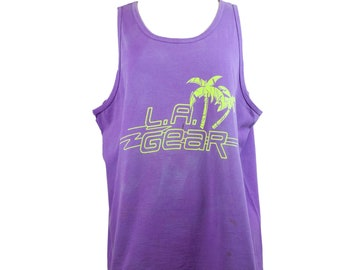 90s L.A. Gear Purple Tank Muscle Shirt XL