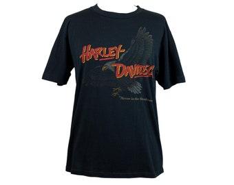 Early 80s Harley Davidson Black T-Shirt