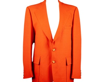 70s Montgomery Ward Burnt Orange Mens Sports Coat Blazer X