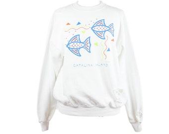 90s Catalina Island Distressed Crewneck Sweatshirt L