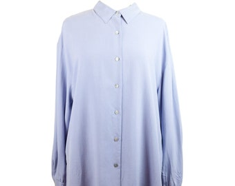 90s Liz Claiborne Lavendar Long Sleeve Silk Blouse