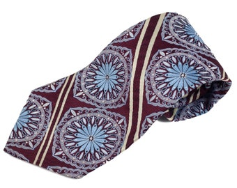 70s Leige for Regal Ties Floral Wide Polyester Tie