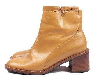 Coup D'etat Camel Beige Ankle Boots Women's 7M